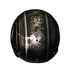 Custom Pin Stressed Skull Tones 3-4 Jet Hand Paint Airbrush Grey Helmet - BUY CUSTOM HELMETS
