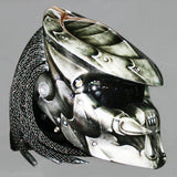 Predator Dark Steel Shield Hand Paint Airbrush Motorcycle Helmet DOT/ECE Approved - BUY CUSTOM HELMETS