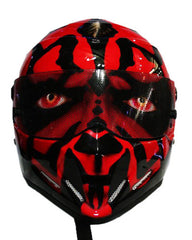 Darth Maul Star Wars Full Face Crash Airbrush Custom Motorcycle Helmet DOT/ECE Approved - BUY CUSTOM HELMETS