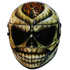 Fire Skull Fire Head Custom Motorcycle Helmet DOT/ECE Approved - BUY CUSTOM HELMETS