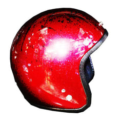 Free Hand Sprayed Red & Black American Eagle Helmet - BUY CUSTOM HELMETS