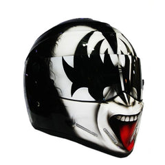 Gene Simmons The KISS Full Face Crash Airbrush Custom Motorcycle Helmet DOT/ECE Approved - BUY CUSTOM HELMETS