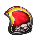 Gold Red White Pins 3-4 Jet Hand Paint Airbrush Helmet - BUY CUSTOM HELMETS