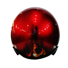 Golden Red Hand Paint Skull Flames 3-4 Jet Hand Paint Airbrush Helmet - BUY CUSTOM HELMETS