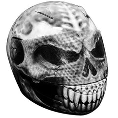 Grey Skull Design Custom Motorcycle Helmet DOT/ECE Approved - BUY CUSTOM HELMETS