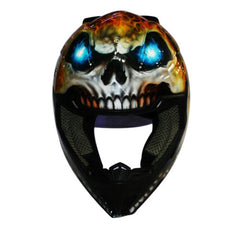 Ice Skull Mountain Bike Custom Motorcycle Helmet DOT/ECE Approved - BUY CUSTOM HELMETS
