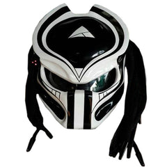 Judgment Day Alien Custom Predator Motorcyle Helmet DOT/ECE Approved,White& Black - BUY CUSTOM HELMETS