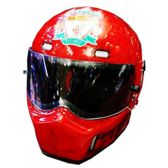 Liverpool Full Face Crash Airbrush Custom Motorcycle Helmet DOT/ECE Approved - BUY CUSTOM HELMETS
