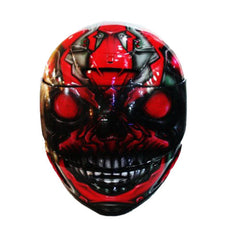 Race Freak 47 Full Face Crash Airbrush Custom Motorcycle Helmet DOT/ECE Approved - BUY CUSTOM HELMETS