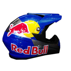 Red Bull BMX Full Face Crash Airbrush Custom Motorcycle Helmet DOT/ECE Approved - BUY CUSTOM HELMETS