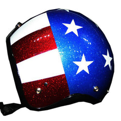Modern Easy Rider Flake & Solid Hand Paint Helmet - BUY CUSTOM HELMETS
