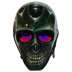 Dark Green Skull Custom Motorcycle Helmet DOT/ECE Approved - BUY CUSTOM HELMETS