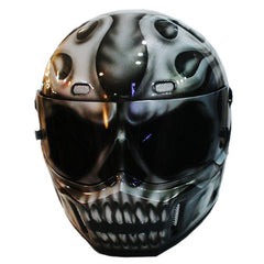 Silver Warrior Full Face Crash Airbrush Custom Motorcycle Helmet DOT/ECE Approved - BUY CUSTOM HELMETS