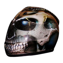 Skull Airbrush Custom Motorcycle Helmet DOT/ECE Approved - BUY CUSTOM HELMETS