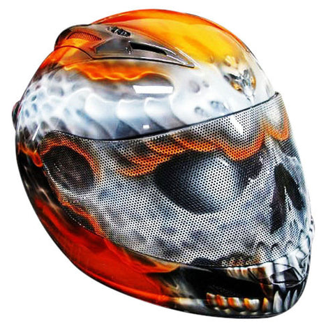 Skull Uruk Hai Design Custom Motorcycle Helmet DOT/ECE Approved - BUY CUSTOM HELMETS