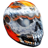 full face motorcycle helmets with skulls