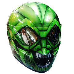 The CARNAGE 1 Full Face Crash Airbrush Custom Motorcycle Helmet DOT/ECE Approved - BUY CUSTOM HELMETS