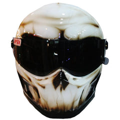 The Carbon Skull Full Face Crash Airbrush Helmet DOT/ECE Approved - BUY CUSTOM HELMETS