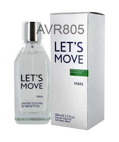 Benetton Let's Move Man 100ml EDT Spray for Men Tester