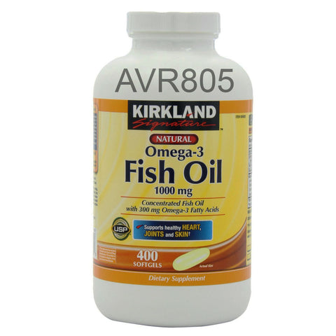 Kirkland Signature Natural Fish Oil Concentrate with Omega 3 1000mg 400 softgels