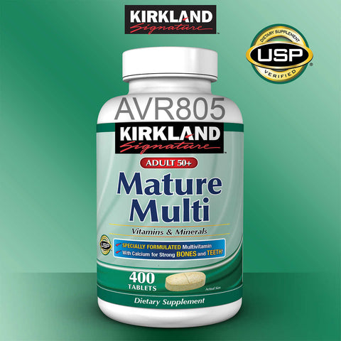Kirkland Signature Mature Multi Vitamins & Minerals Adults 50+ 400 tablets