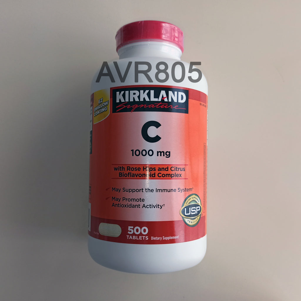Kirkland Signature Vitamin C 1000mg with Rose Hips Rosehips 500 tablets