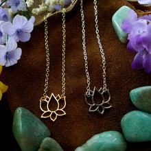 Load image into Gallery viewer, Lotus Necklace - SacredDivination