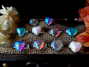 Rainbow Mermaid Heart Rings - SacredDivination