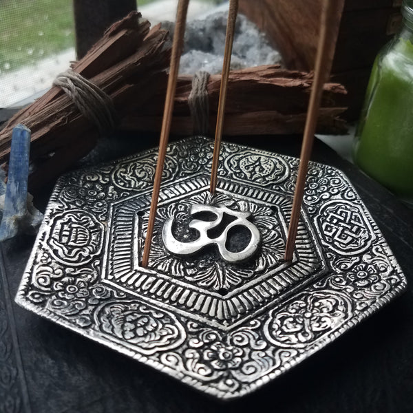 Om Symbol Incense Burner - SacredDivination