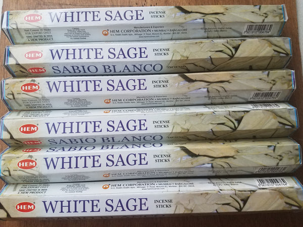 White Sage Incense Sticks 1 pack - SacredDivination