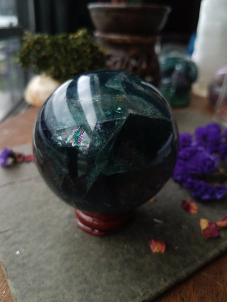 High Quality Fluorite Sphere - SacredDivination