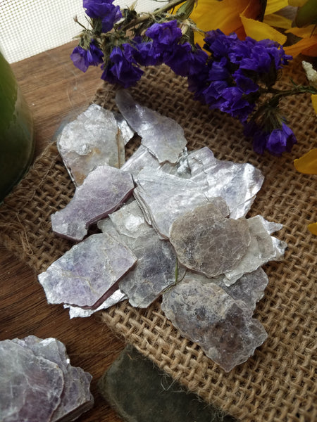 Small Lepidolite Slabs - SacredDivination
