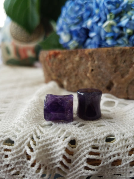 Amethyst Plugs - 1/2 inch - 12 mm