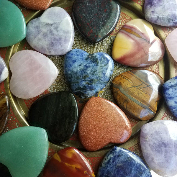 Medium Assorted Gemstone Hearts