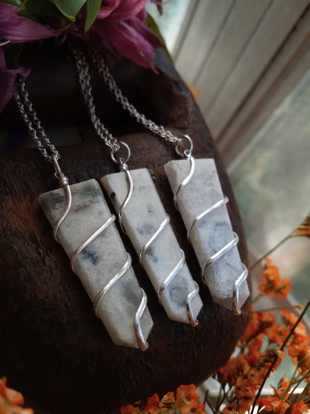Moonstone Wrap Necklaces