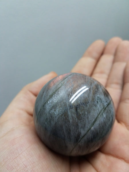 *RESERVED* Red/Purple Flash Labradorite Sphere