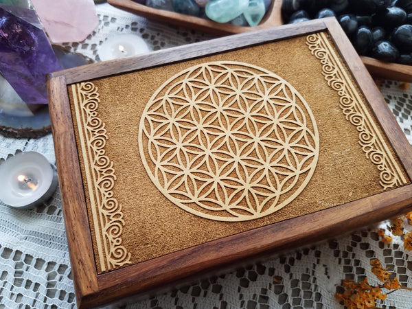 Flower Of Life Wooden Box