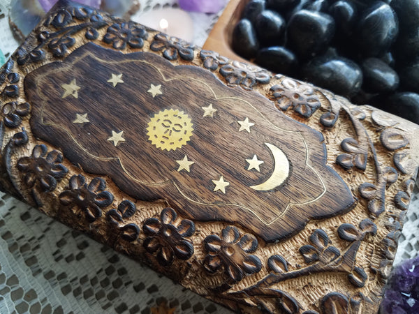 Celestial Wooden Box - medium