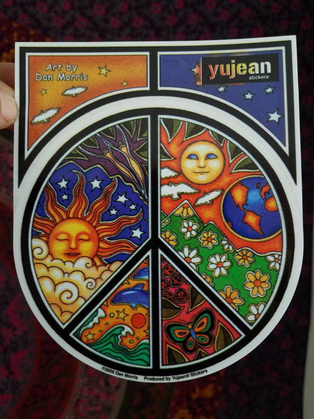 """ Celestial Peace Sign "" stickers"