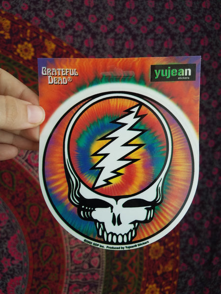 "Grateful Dead ""Tie Dye""  stickers"