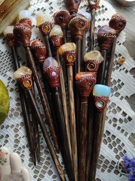 Gemstone Hair Sticks