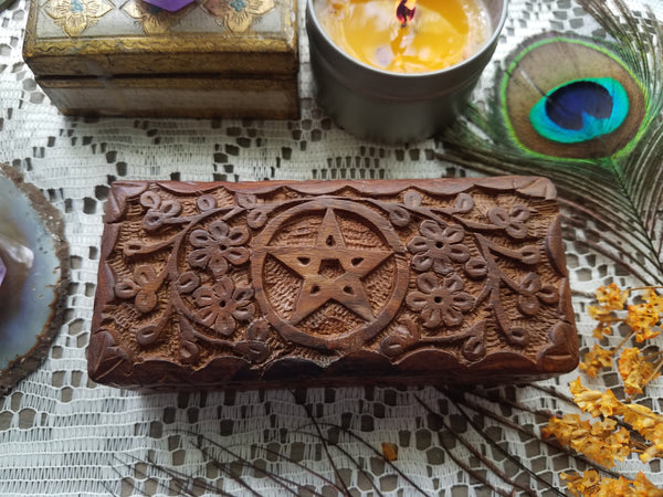 Pentacle Wooden Box - small