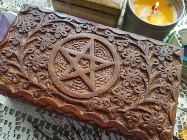 Pentacle Wooden Box - medium