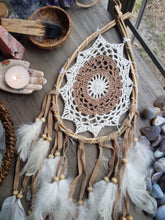 Load image into Gallery viewer, Wooden Droplet Dreamcatcher (multiple colors available)