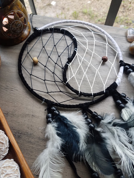 Black & White Yin Yang Dreamcatcher
