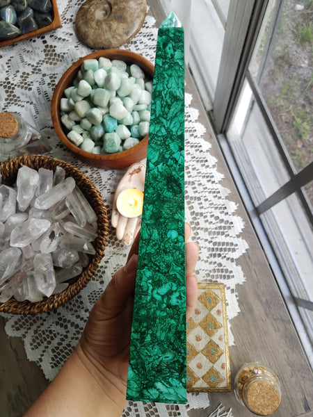 XL Malachite Obelisk #1