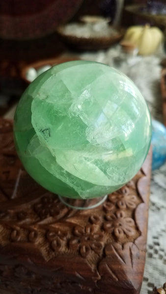 Green Fluorite Sphere
