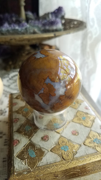 Spotted Agate Sphere