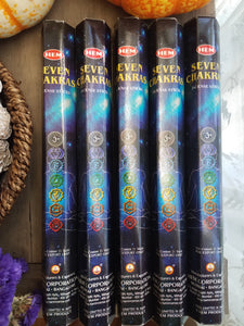 """Seven Chakras"" Incense Sticks"
