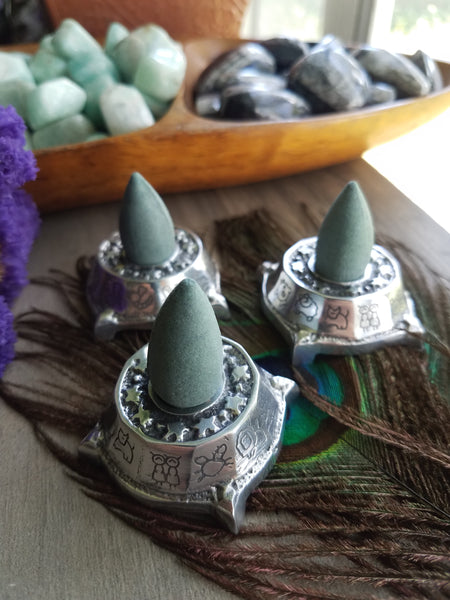 Zodiac Incense cone burner